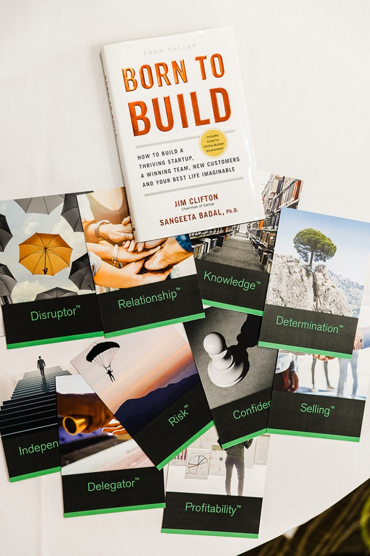 Born to Build book and talent cards